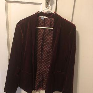 Old Navy Burgundy Velvet Blazer Size L